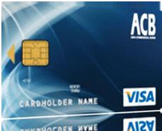 Thẻ tín dụng quốc tế ACB Visa chuẩn