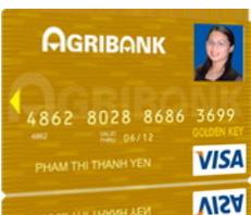 Thẻ tín dụng quốc tế Agribank Visa hạng vàng