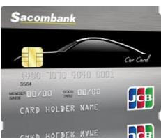 Thẻ tín dụng quốc tế Sacombank JCB Car Card