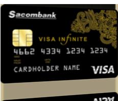 Thẻ tín dụng quốc tế Sacombank Visa Infinite