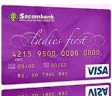 Thẻ tín dụng quốc tế Sacombank Visa Ladies First
