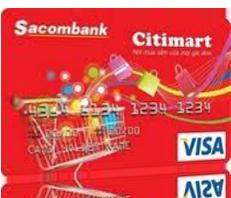 Thẻ tín dụng quốc tế Sacombank Visa Citimart