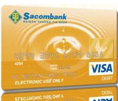 Thẻ thanh toán quốc tế Sacombank Visa Debit