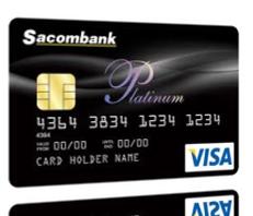 Thẻ tín dụng quốc tế Sacombank Visa Platinum