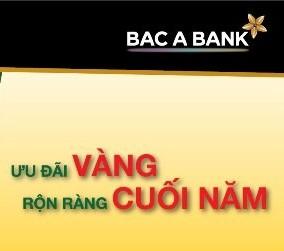 Ưu đãi Vàng, rộn ràng cuối năm cùng BacABank