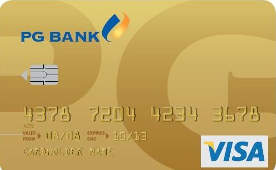 biểu phí thẻ tín dụng quốc tế PGbank