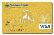 Thẻ tín dụng quốc tế Sacombank Visa Vàng