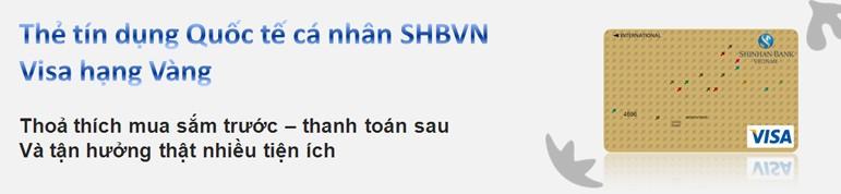 Các tiện ích của thẻ tín dụng quốc tế cá nhân Shinhan Visa vàng