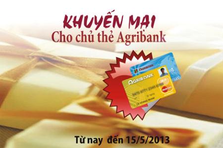ưu đãi khuyến mãi chủ thẻ agribank