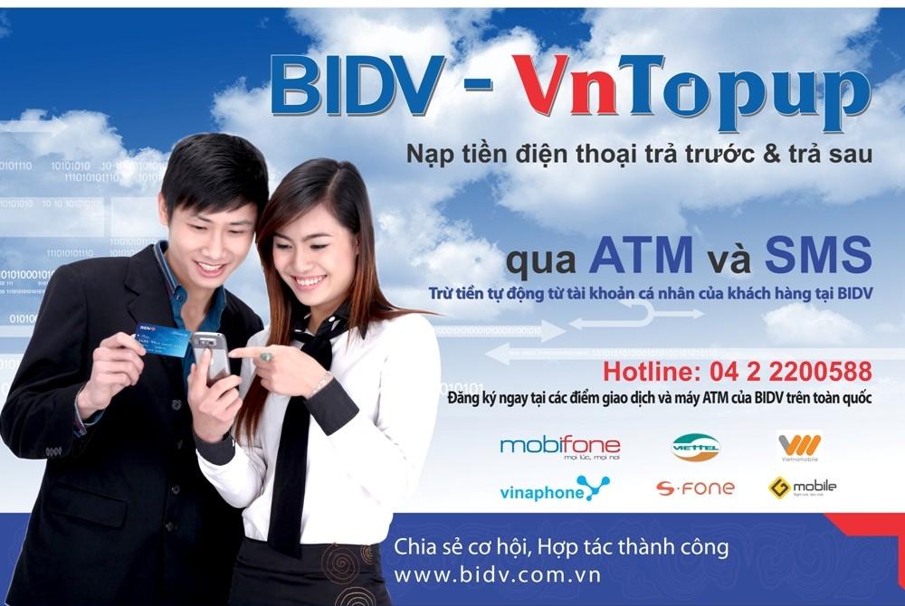 Nạp tiền VnTopup cho người khác như thế nào? Hiện nay BIDV có chương trình khuyến mại nào không?