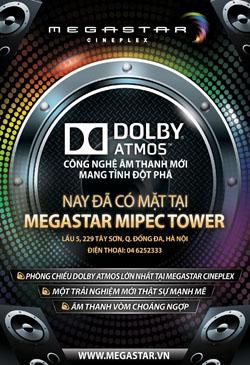 MegaStar lần đầu tiên mang công nghệ âm thanh tiên tiến Dolby Atmos đến Việt Nam