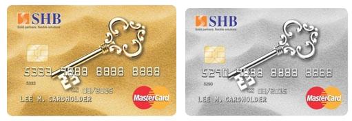 Làm thẻ tín dụng quốc tế SHB MasterCard Classsic/ MasterCard Gold