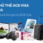 giảm giá 10% cho chủ thẻ ACB Visa được sử dụng kèm với các khuyến mãi khác nếu có.