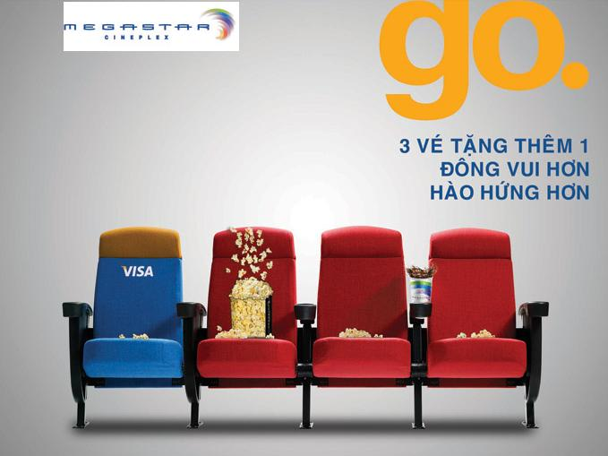 Nhận ngay quà tặng tại Megastar Cineplex khi thanh toán bằng thẻ Visa của PG Bank