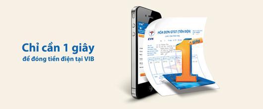 Thanh toán hóa đơn tiền điện tại VIB – Chỉ cần một giây, nhận ngay quà tặng