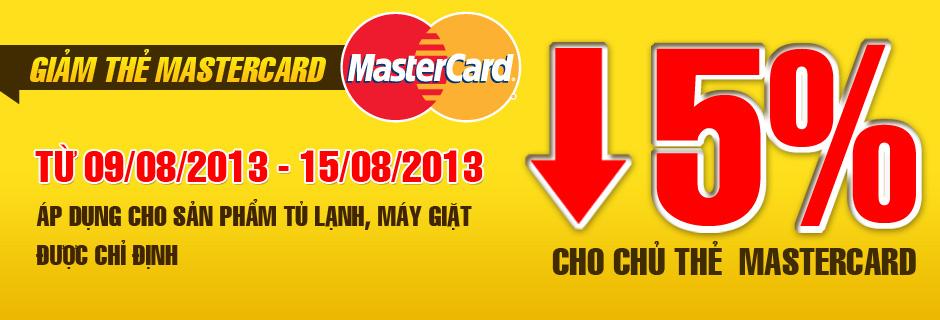 Nguyễn Kim siêu khuyến mãi giảm giá dành riêng cho chủ thẻ MasterCard