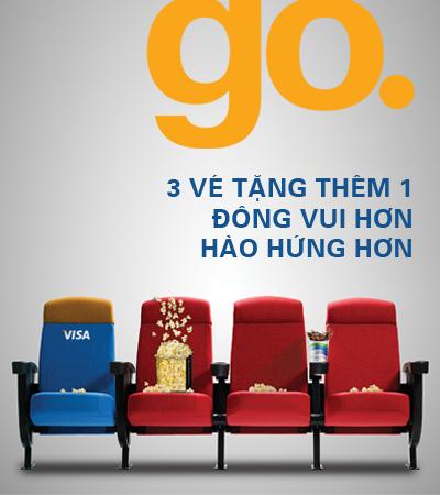 MUA 3 vé TẶNG 1 vé xem phim tại Megastar khi thanh toán bằng thẻ HSBC Visa