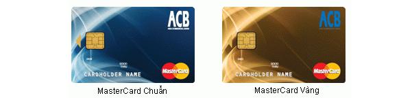 Làm thẻ tín dụng ACB MasterCard chuẩn/ ACB MasterCard vàng