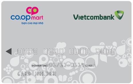 biểu phí thẻ đồng thương hiêu vietcombank coopmart