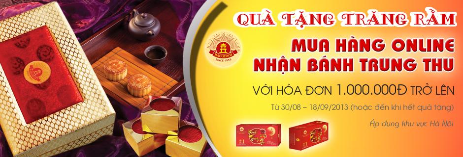 Nguyễn Kim khuyến mãi-Mua hàng online tặng bánh trung thu