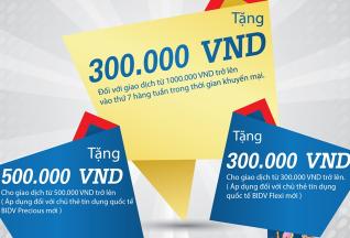 Khuyến mại mùa thu cho chủ thẻ tín dụng BIDV