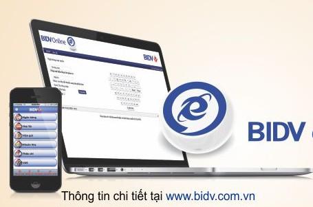 Nhận ngay ưu đãi khi tham gia dịch vụ BIDV E-Banking