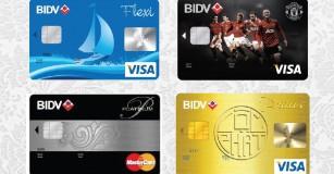 So sánh các loại thẻ tín dụng của BIDV