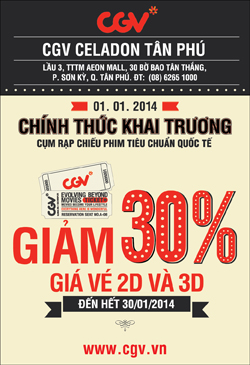 CGV tan Phu Discound 30