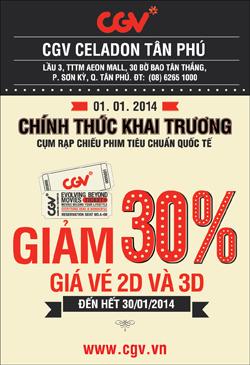 CGV tan Phu Discound 30
