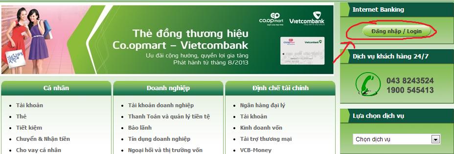 Internet Banking Vietcombank là dịch vụ