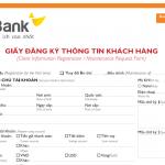 Mẫu đơn mở thẻ thông minh HDCard mới nhất 2014