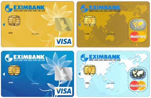 biểu phí thẻ tín dụng quốc tế Eximbank mới nhất 2014