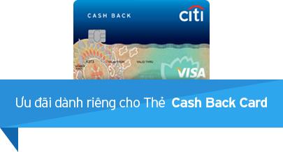 Ưu đãi dành riêng cho Thẻ Cash Back