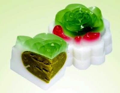Bánh trung thu rau câu nhân trà xanh