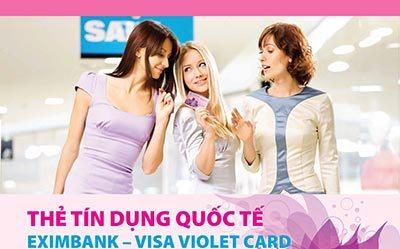 Thẻ Visa Violet Card dành cho phái đẹp