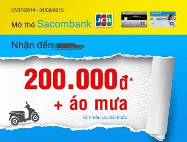 Chương trình khuyến mại khủng cho chủ thẻ Sacombank JCB