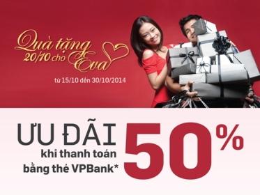 Ngày phụ nữ Việt Nam giảm giá đến 50% với thẻ VPBank