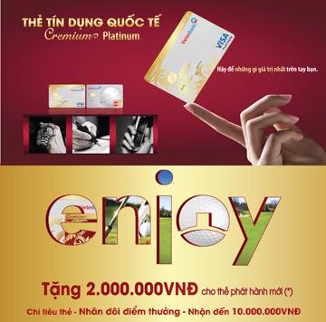 Khuyến mại đặc biệt cho thẻ Platinum Visa/MasterCard VietinBank