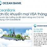 Khuyến mại tháng 11 cho chủ thẻ Visa OceanBank