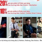 Thời trang Việt Tiến giảm 20% cho chủ thẻ Sacombank Visa