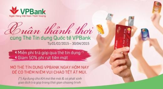 """Khuyến mãi """"Xuân thảnh thơi cùng thẻ tín dụng Quốc tế VPBank"""""""