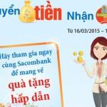 Chương trình khuyến mãi chuyển tiền nhận quà tại Sacombank
