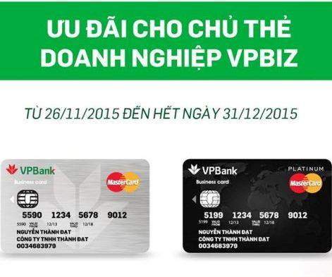 Ngân hàng VPBank ưu đãi hoàn tiền cho chủ thẻ doanh nghiệp VPBiz13