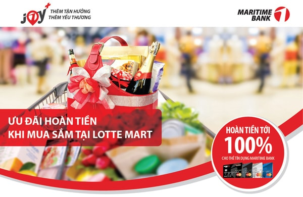 the-tin-dung-maritimebank-uu-dai-hoan-tien-toi-100-khi-mua-sam-tai-lotte-mart-min