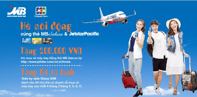 """Chương trình khuyến mãi """"Hè sôi động cùng thẻ tín dụng quốc tế MB Sukura và Jetstar Pacific"""""""