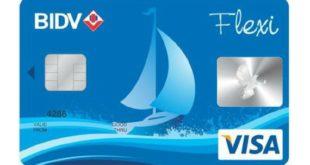 thẻ tín dụng bidv visa Flexi