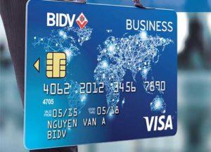 thẻ tín dụng doanh nghiệp bidv